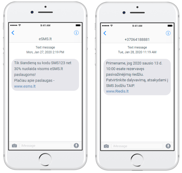 SMS rinkodaros paslaugos